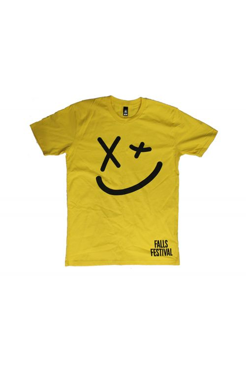 Smiley Event Yellow Tshirt by Falls Festival