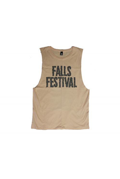 Drips Pale Pink Tank by Falls Festival