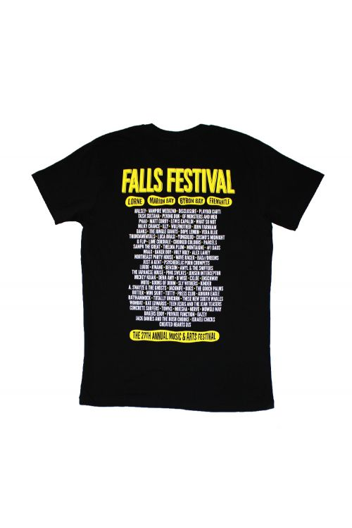 Icons Event Black Mens Tshirt by Falls Festival