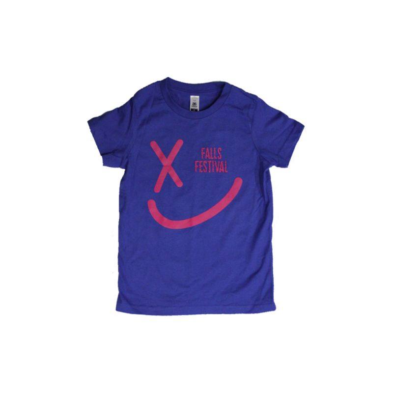 Smiley Event Kids Royal Blue Tshirt